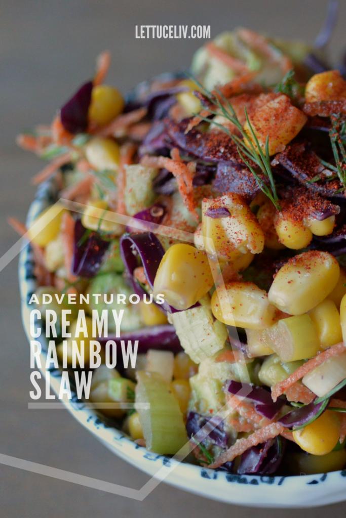 creamy rainbow slaw