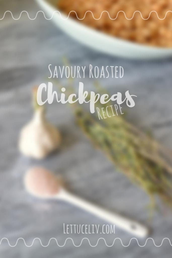 Vegan Savoury Roasted Chickpeas recipe