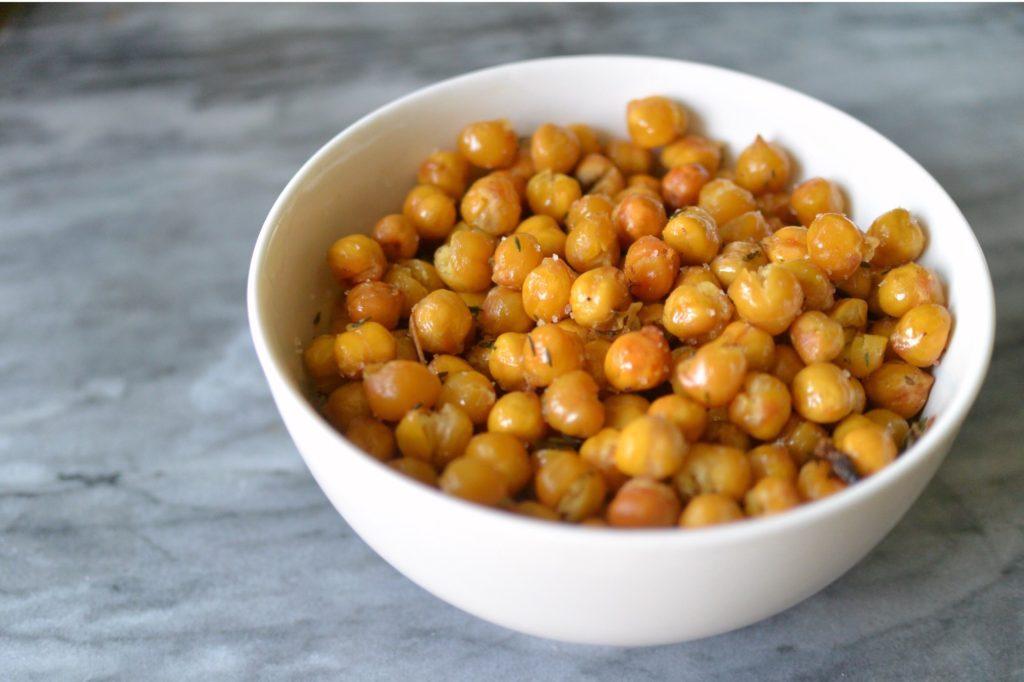 Savoury Roasted Chickpeas vegan recipe