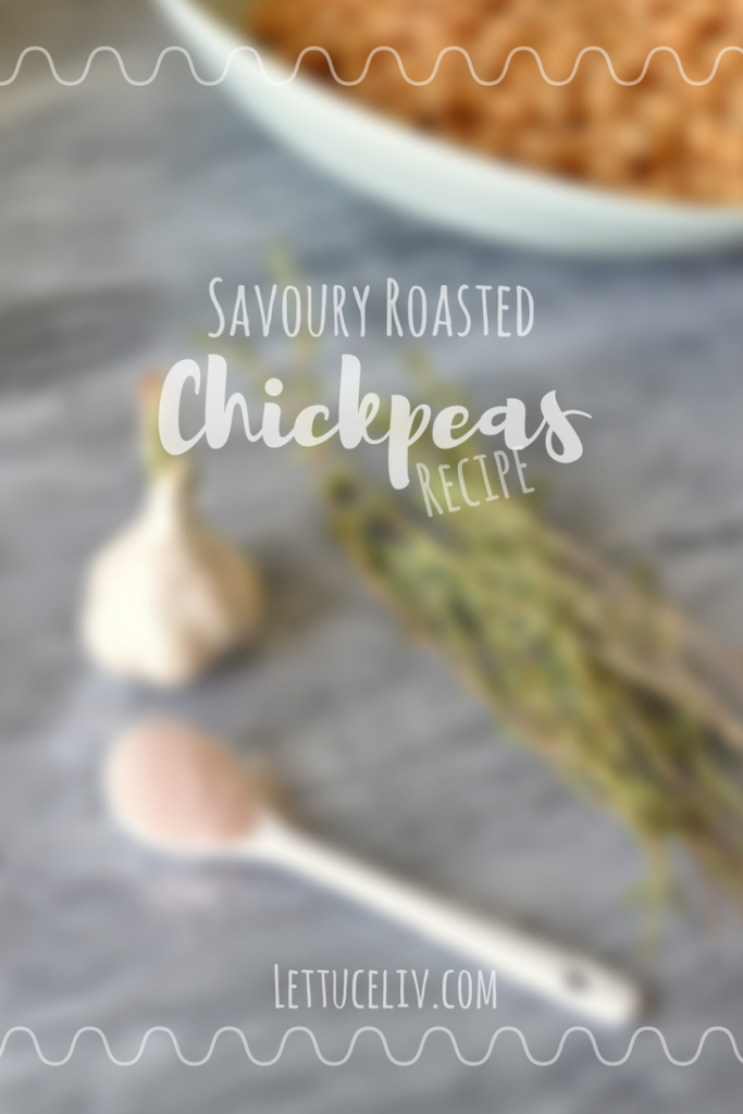 Vegan Savoury Roasted Chickpeas recipe